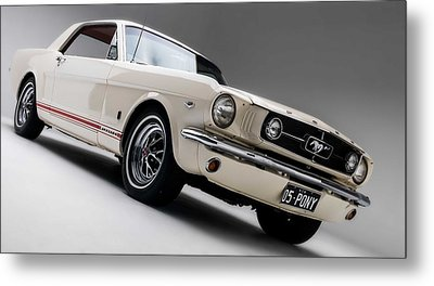 Metal Print featuring the photograph 1966 Mustang Gt by Gianfranco Weiss