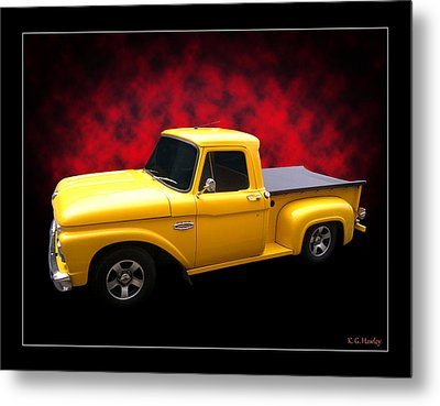 Metal Print featuring the photograph 1966 Pickup by Keith Hawley