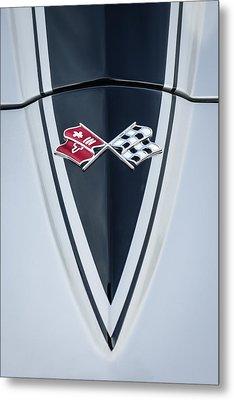 1967 Chevrolet Corvette Coupe Hood Emblem Metal Print by Jill Reger