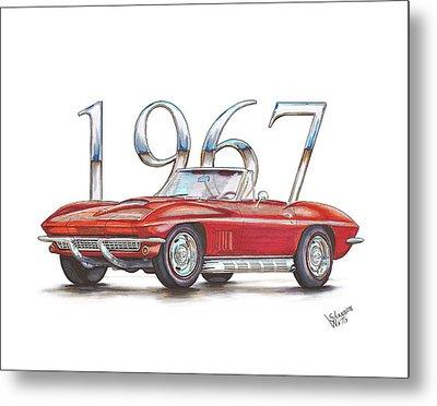 1967 Chevrolet Corvette Sting Ray 427 Convertible Metal Print