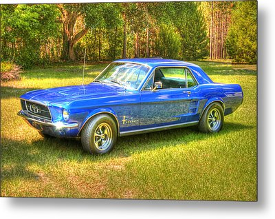 1967 Ford Mustang Metal Print by Donald Williams