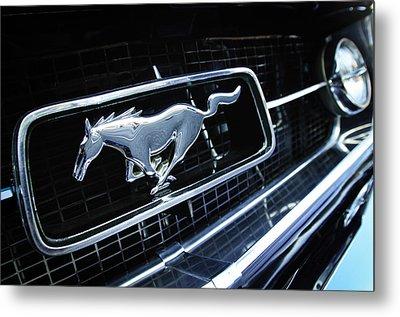 1967 Ford Mustang Gt Grille Emblem Metal Print by Jill Reger
