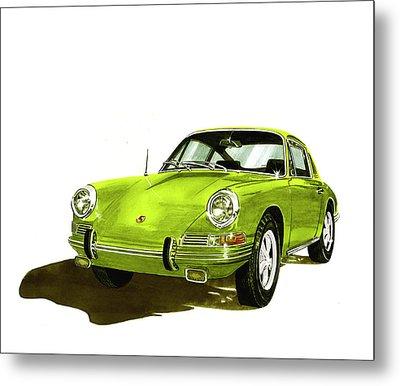 Porsche 911 Sportscar Metal Print