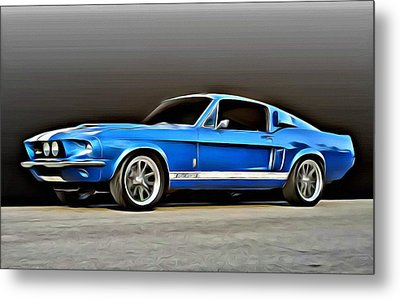 1967 Shelby Mustang Gt500 Metal Print