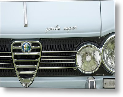 1968 Alfa Romeo Giulia Super Grille Metal Print by Jill Reger