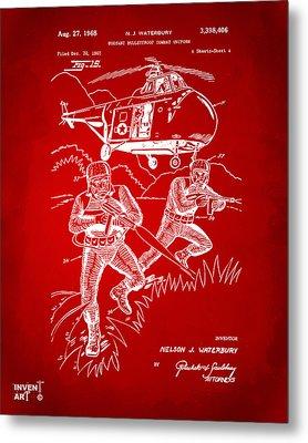 1968 Bulletproof Patent Artwork Figure 15 Red Metal Print