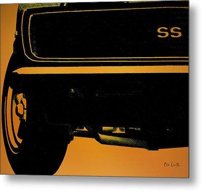 1968 Camaro Ss Front End Closeup  Metal Print by Bob Orsillo