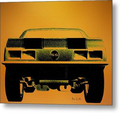 1968 Camaro Ss  Full Rear Metal Print by Bob Orsillo