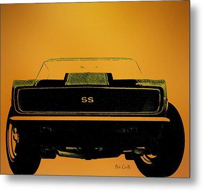 1968 Camaro Ss Head On Metal Print by Bob Orsillo