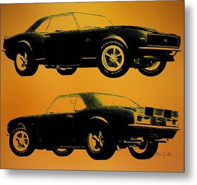 1968 Camaro Ss Side View Metal Print by Bob Orsillo