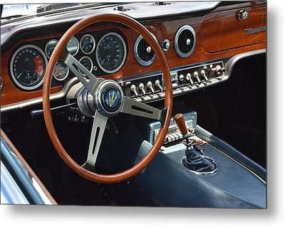 1968 Maserati Interior Metal Print by Mike Martin