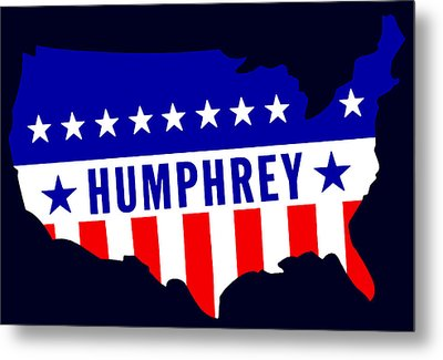 1968 Vote Humphrey For President Metal Print by Historic Image