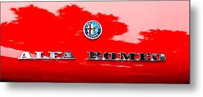 1969 Alfa Romeo Spider Veloce Iniezione Emblem Metal Print by Jill Reger