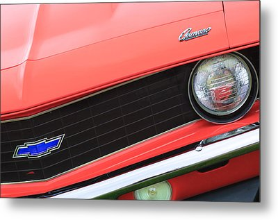 1969 Chevrolet Camaro Copo Replica Grille Emblems Metal Print by Jill Reger