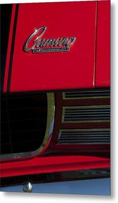 1969 Chevrolet Camaro Rally Sport Emblem Metal Print by Jill Reger