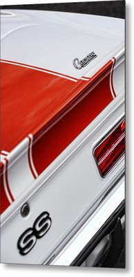 1969 Chevrolet Camaro Ss Indianapolis 500 Pace Car Rear Shot Metal Print by Gordon Dean II