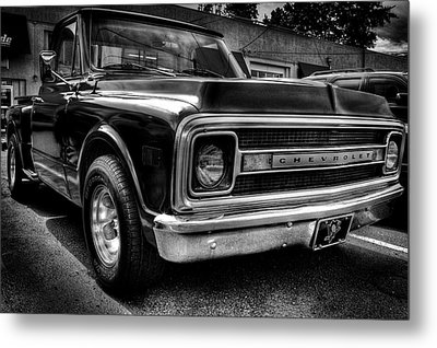 1969 Chevrolet Pickup V Metal Print by David Patterson