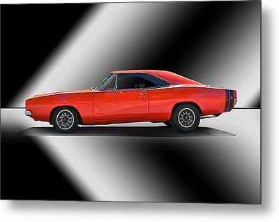 1969 Dodge Charger Metal Print by Dave Koontz