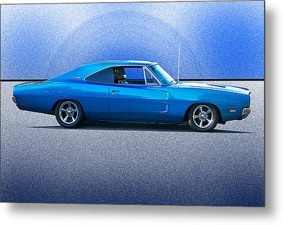 1969 Dodge Charger Rt Flexing Muscle Metal Print by Dave Koontz