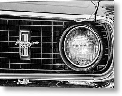 1969 Ford Mustang Mach 1 Grille Emblem Metal Print by Jill Reger