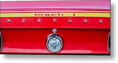 1969 Ford Mustang Mach 1 Rear Emblems Metal Print by Jill Reger