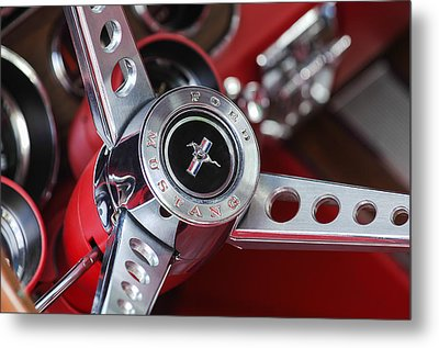1969 Ford Mustang Mach 1 Steering Wheel Metal Print