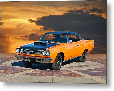 1969 Plymouth 440 6bl Roadrunner Metal Print by Dave Koontz