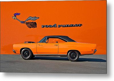 1969 Plymouth Road Runner Metal Print