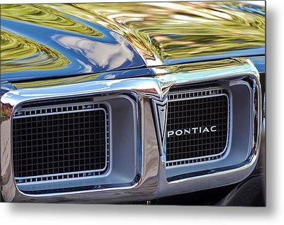 1969 Pontiac Firebird 400 Grille Metal Print by Jill Reger