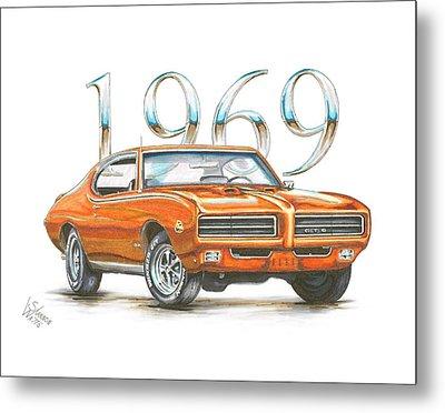 1969 Pontiac Gto Judge Metal Print by Shannon Watts