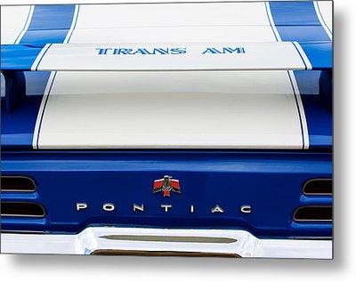 1969 Pontiac Trans Am Tail Fin Emblem Metal Print by Jill Reger