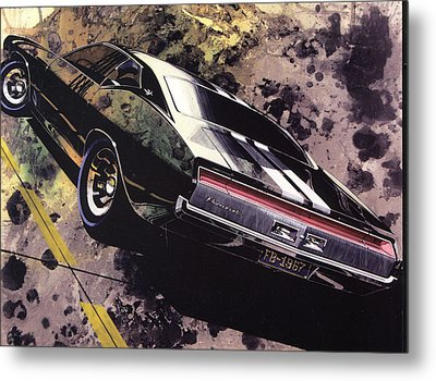 1970 Barracuda Plymouth Vintage Styling Design Concept Sketch Frank Kendrickson Metal Print