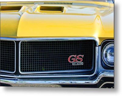1970 Buick Gs Grille Emblem Metal Print by Jill Reger