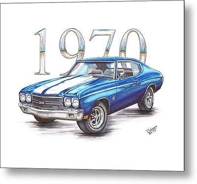 1970 Chevrolet Chevelle Super Sport Metal Print