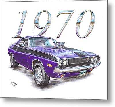 1970 Dodge Challenger Metal Print by Shannon Watts