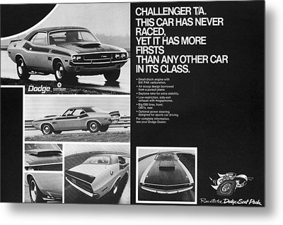 1970 Dodge Challenger T/a Metal Print