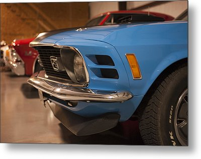 1970 Mustang Mach 1 And Other Classics Hidden In A Garage Metal Print
