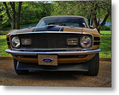 Metal Print featuring the photograph 1970 Mustang by Tim McCullough