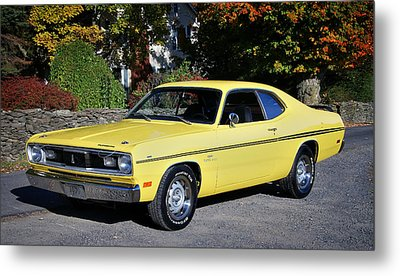 1970 Plymouth Duster340 Metal Print by Thomas Schoeller