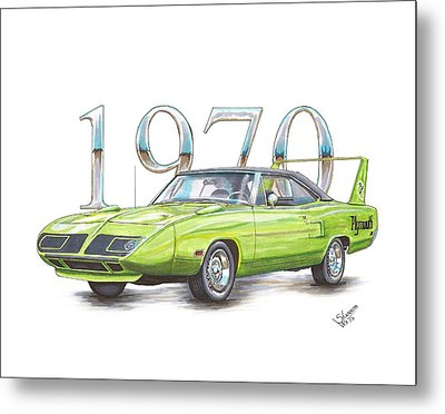1970 Superbird Metal Print by Shannon Watts