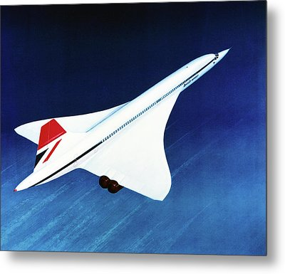 1970s Concorde In Flight Metal Print by Us National Archives
