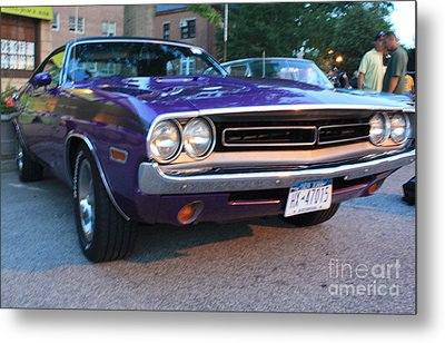 1971 Challenger Front And Side View Metal Print by John Telfer