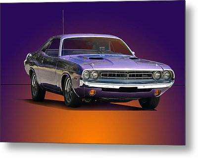 1971 Dodge Challenger Rt Metal Print by Dave Koontz
