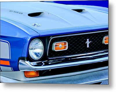 1971 Ford Mustang Boss 351 Cleveland Metal Print by Jill Reger