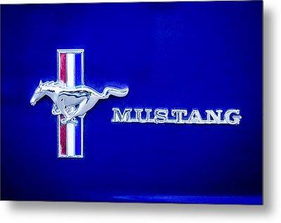 1971 Ford Mustang Boss 351 Emblem Metal Print by Jill Reger