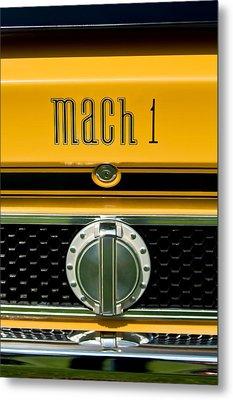 1971 Ford Mustang Mach 1 Emblem -0483c Metal Print by Jill Reger