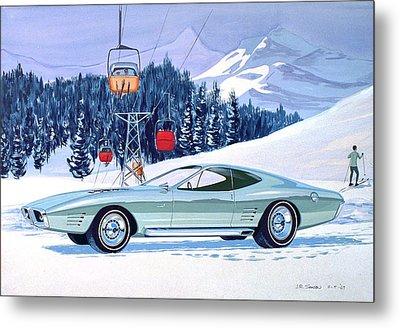 1972 Barracuda Cuda Plymouth  Vintage Styling Design Concept Rendering Sk Metal Print