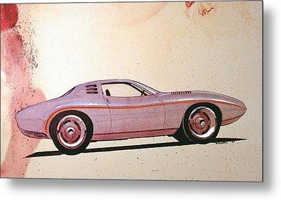 1972 Barracuda  J Cuda Vintage Styling Design Concept Sketch Metal Print
