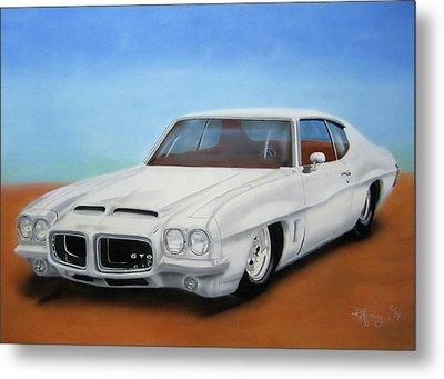 Metal Print featuring the painting 1972 Pontiac Gto by Thomas J Herring