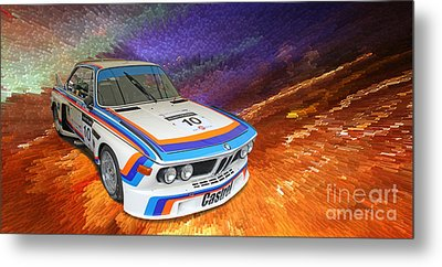 1973 Bmw 3.0 Csl Batmobile Touring Car Metal Print